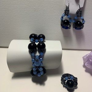 Bracelet 3 PC set Hand Made with Earrings and Ring